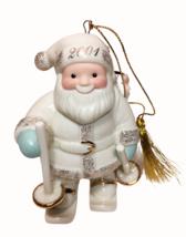"Lenox 2001 ""Santa's Downhill Delivery"" Skis Ornament Figurine Ivory 24k Gold - $24.99"