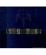 Black Horn Hairpipe w/ Black & White Beads Choker - $16.04