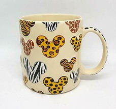 Walt Disney World Animal Kingdom Mickey Mouse Pattern Ceramic Mug Cup NEW - $48.50