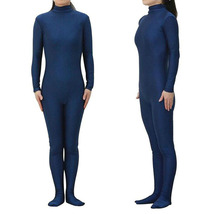 Navy Blue Headless Bodysuit Spandex Zentai Catsuit Costume - $36.80