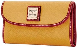 Dooney & Bourke Pebble Grain Continental Clutch Wallet, Dandelion