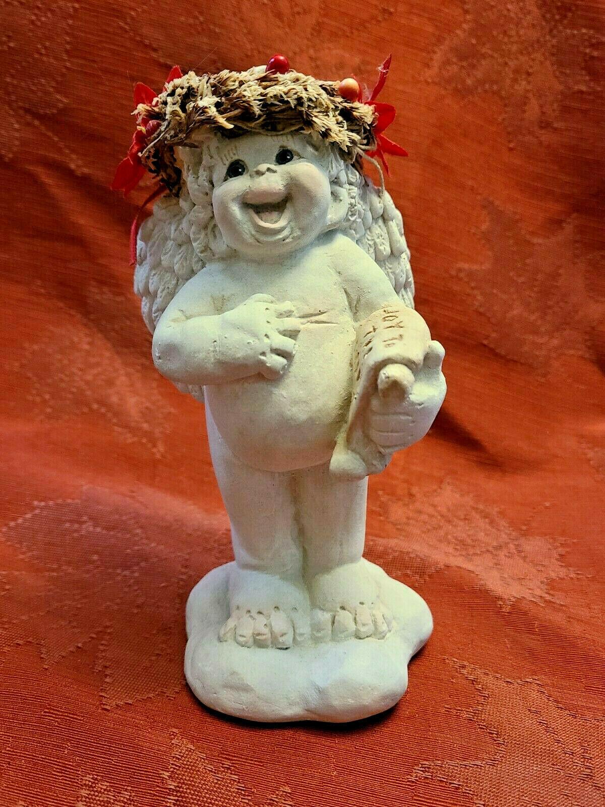 1994 Joy to the World Dreamsicles Angel Cherub Figurine Signed Kristin Mexico