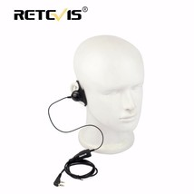 Retevis D shape Soft Ear Hook Earpiece 2Pin PTT Mic Headset For Kenwood ... - $21.21
