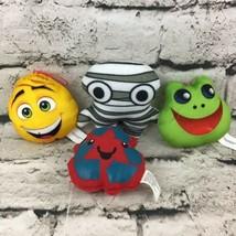 "Mini Plush Lot Of 4 Mummy Emoji Frog Recycle Symbol 4"" Cute Stuffed Toys - $9.89"