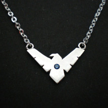 Handmade 925 Sterling Silver Nightwing Necklace Choker - Gift for Geek, ... - $42.00