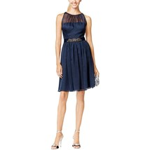 Adrianna Papell Women's NEW Gathered Chiffon Halter Dress Midnight $159 ... - $39.59