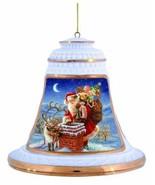 Precious Moments Santa with Deer at Chimney Ornament - $24.99