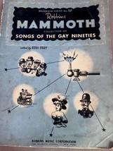 1942 Robbins Mammoth Series No 17 SONGS OF THE GAY NINETIES Songbook she... - $9.89