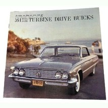 1961 Buick Turbine Drive Full Size Sales Brochure Buyer's Guide Dealer Car - $15.84