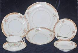 Antique, Occupied Japan, Hira China HIR23 Gold Trimmed, 7 Piece Place Se... - $88.61
