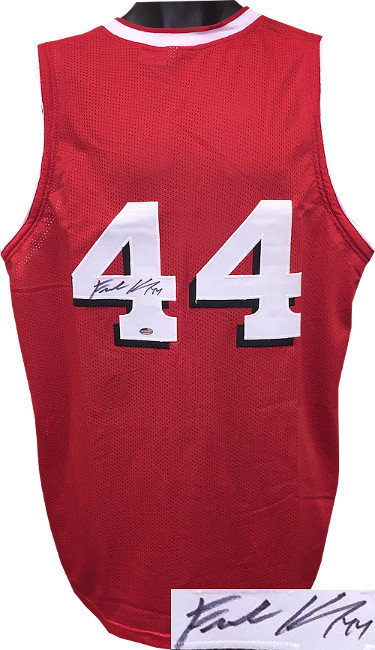 Frank Kaminsky signed Red w/ Shadow #'s Custom Stitched College Basketball Jerse