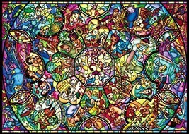 266 Piece Jigsaw Puzzle Disney Character All Star Stained Glass Gyutto series [ - $26.13