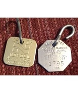 Dog Tag Lot of 2 1978 Hibbing MN 1985 Vaccinated Against Rabies  - $11.88