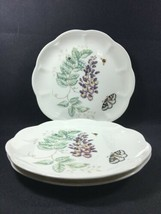 """Set of 3 (9"""") Accent Luncheon Plates Lenox Butterfly Meadow Eastern Tailed Blue - $29.99"""