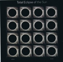 2017 USPS Total Eclipse of the Sun Sheet of 16 Stamps New w/ case - $27.86
