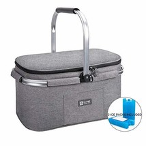 ALLCAMP Lightweight Picnic Basket Collapsible Insulated Cooler Bag for 4... - $697,18 MXN