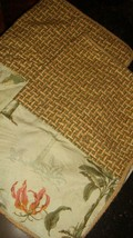 Waverly Wailea Coast Mist Green 2 Tropical Standard Pillow Shams Palm Trees - $39.57