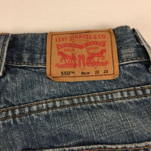 c0b6b247 ... Levis 550 Relaxed Boys Jeans Size 8 Slim Faded Medium Wash ...