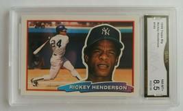 Rickey Henderspn 1988 Topps Big Baseball #165 Graded GMA 8.5 NY Yankees ... - $0.94