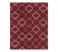 Pottery Barn 3x5 2.5x9 5x8 8x10 9x12 Ryan Sumac Handmade Tufted Wool Are... - $289.00+