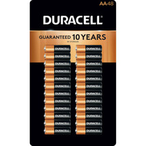 Alkaline AA Batteries 48 Pack Duracell Coppertop long Lasting Power Remotes Toy - $39.55
