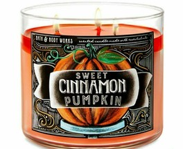 Bath Body Works SWEET CINNAMON PUMPKIN 3- Wick Candle 14.5 Oz  NEW 2020  - $30.00