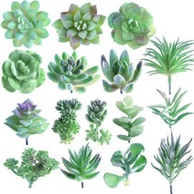 KUUQA 16 Pcs Random Size Artificial Succulent Plants Unpotted Succulents... - $24.74