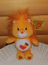 "CARE BEARS Orange Plush 10"" Cousin Brave Heart Lion Wants PlayMate - $6.59"