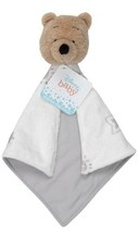 Disney Baby Winnie The Pooh White/Gray Security Blanket (a) N15 - $59.39