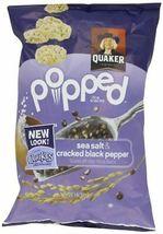 Quakes Rice Snacks Sea Salt & Cracked Black Pepper 6 oz (Pack of 5) MAY ... - $31.99