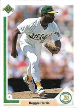 1991 Upper Deck BASEBALL-#672-Reggie Harris-A's-Pitcher - $3.96