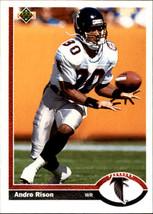 1991 Upper Deck #173 Andre Rison > Atlanta Falcons > Michigan State - $0.99