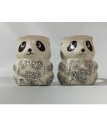 Yokohama Studio Hand Painted 3D Panda Figure Mug Lot of 2 - $25.00