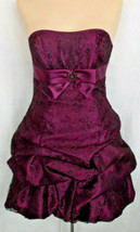 Cocktail Prom Formal Short Strapless Dress Jessica McClintock Lace Overl... - $49.49