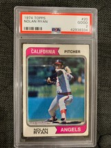 1974 Topps #20 California Angels Nolan Ryan PSA Good 2 - $13.72