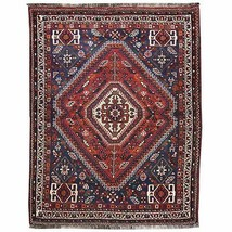 Hand-Knotted Oriental Handmade Tribal Wool Rug (Size 3.11 X 5.3) Cwral-7800 - $607.50