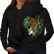 Beautiful Sugar Skull Sweatshirt Hoody  Women Hoodie Back - $21.99+