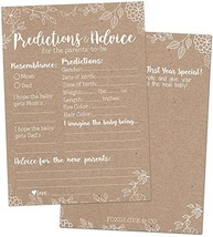 Foxglove & Co. 50 Rustic Baby Shower Prediction Advice Cards - Baby Show... - $16.82