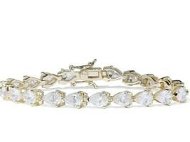 CZ BY KENNETH JAY LANE Rhodium plated gold tone crystal bracelet MRSP $195  - $113.85