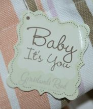 Grasslands Road Baby Its You 462441 Large Canvas Tote Stripped Peace Sign image 4