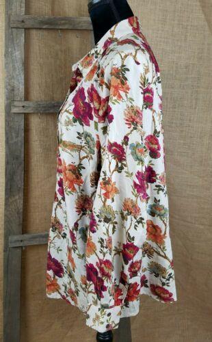 J. Jill Donna L Button Down Camicia Manica Lunga Stampa Floreale image 3