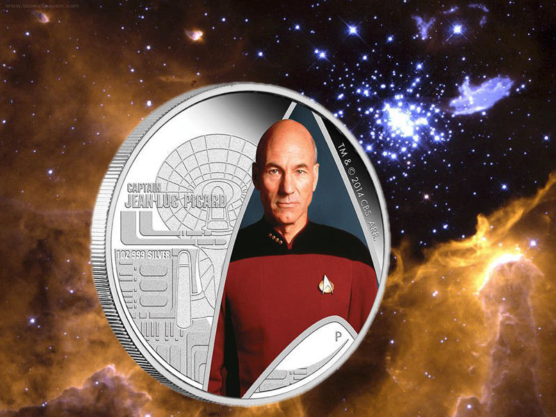 2015 Star Trek Next Generation Captain Jean-Luc Picard 1oz 999 Silver Proof Coin