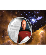 2015 Star Trek Next Generation Captain Jean-Luc Picard 1oz 999 Silver Pr... - $100.41