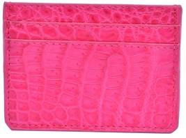 Beautiful French Rose Many Card Slots Premium Crocodile Leather New Card Wallet - $179.99