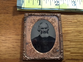 """Ambrotype of Bearded Old Man """"The Preacher"""" Named in Brass Frame 1860's! - $30.00"""