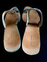 5 Wood Blue Kate Leather Heels Sandals Wedges Spade B 8 xqax8wn1Hf