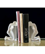 MINT Lalique Reverie Bookends #11850 French Crystal Signed Retail $4300 - $2,470.05