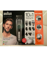 Braun all in One Trimmer 7 MGK7221 Barber Hair Clippers 10 In 1 Shave & ... - $79.88