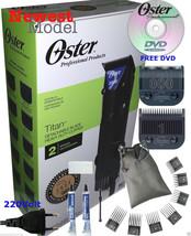 OSTER Titan 220v Professional Hair Clipper 76076-410 PLUS Universal 7 Combs Set - $175.99
