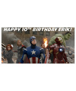 Avengers Personalized Birthday Banner Party Backdrop - $36.63